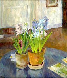Hyacinths in pots - Sigurd Swane