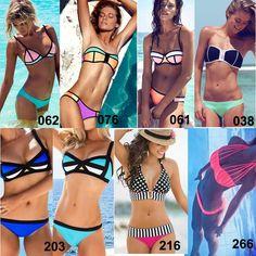 f1836eb4cd 2015 Sexy Women s Triangl Bikini Swimwear 3D Color Halter Bandeau Swimsuits  Triangle Fluorescence Neon Bathing Suit Patchwork Bandage 062 from  Yangze