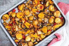 These Mediterranean Roast Vegetables with a spicy kick make the perfect main or side dish. Delicious with fried halloumi, grilled fish or roast chicken.
