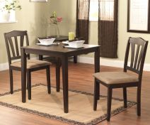@Overstock - Enhance your home decor with a three-piece dining set  Furniture features rubber wood construction  Dining set measures 30 inches x 30 inches x 29 inches highhttp://www.overstock.com/Home-Garden/Montego-3-piece-Dining-Set/4409192/product.html?CID=214117 $192.99