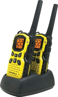 Motorola Talkabout MS350R Waterproof 2-Way Radios. Combine with the hands-free earpiece to talk to the babe on our adventures!