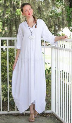 Oh My Gauze Cotton Bella Long Balloon Hem Dress OSFM M L XL 1x  #cottongauze…