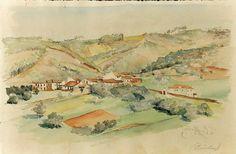 João Alves de Sá (1878-1972) - Coimba - Aguarela