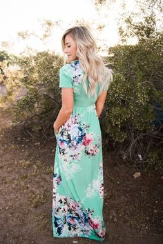 High Waist Floral Maxi Dress!