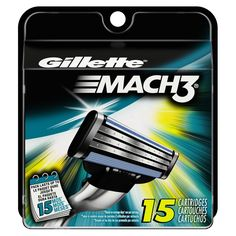 Gillette Mach3 Razor Blades  15 Pack 1 Year Supply,New ! *** FREE EXPEDITED SHIPPING WITH TRACKING NUMBER INCLUDED ***  SALE $21.99   Size: 15 Count View larger Gillette MACH3 Cartridge Th...