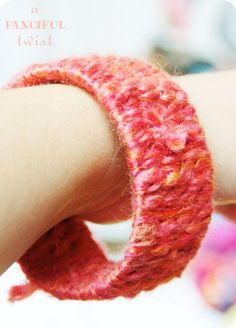 Let's get Crafty with Yarn and Fabric Bracelets - Part II