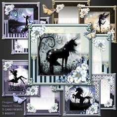 craftytinytales on Craftsuprint Hobbies And Crafts, Moonlight, Fairies, Gallery Wall, Kit, Frame, Home Decor, Faeries, Picture Frame