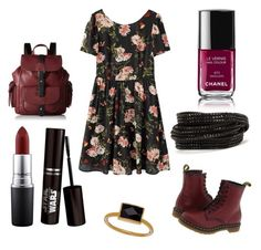 """Untitled #17"" by halel-etkes on Polyvore featuring interior, interiors, interior design, home, home decor, interior decorating, Dr. Martens, Janna Conner Designs, Kenneth Cole Reaction and MAC Cosmetics"