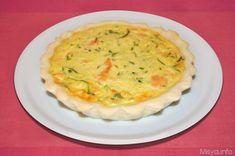 La quiche con il salmone e le zucchine e' una torta salata raffinata che può essere preparata in un unico stampo o in 6 stampini piccolini per ottenere