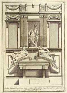 Elevation of Michelangelo's Medici Chapel, Florence