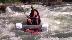 Whitewater Canoeing- Fayette Station WV. In the wake a of a product review from Canoe & Kayak Magazine a lot of people were asking how our cooler outrigger stood up to rougher water, so we set out to show its capabilities and Bill Ryan was there to catch us in action