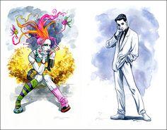 Delirium & Desire from the Sandman comics