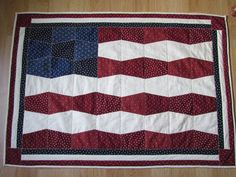 Patriotic Quilted Table Runner Topper by WillowbendCottage on Etsy, $65.00