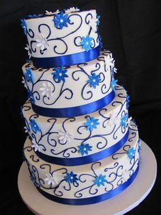 Royal Blue Wedding Cakes Wedding Bridal Shower Cakes Cake Frenzy Picture