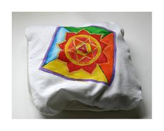 Mandala handpainted cotton pillow cover  98 x 83 by WearBeauty