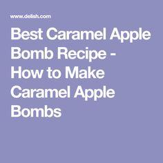 Best Caramel Apple Bomb Recipe - How to Make Caramel Apple Bombs Caramel Apple Bombs, Caramel Apples, Parmesan Soup, How To Make Caramel, Biscuit Bread, Bombe Recipe, Apple Dumplings, Quick Easy Desserts, Caramel Candy