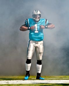 """Cam Newton coming out of the tunnel on game day - """"SUPERMAN"""" Carolina Panthers quarterback Football Fans, Football Season, Football Players, Football Helmets, Cam Newton Superman, Carolina Panthers Football, Panthers Game, Panther Football, Soccer"""