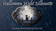 Halloween Night Silhouette Cookie Tutorial Halloween Cookies, Halloween Night, Cookie Tutorials, Cookie Decorating, Silhouette, Youtube, Cookie Videos, Royal Icing, Biscuits
