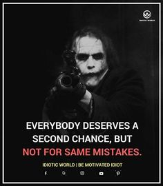 but i havent done the same mistake Badass Quotes, Sad Quotes, Motivational Quotes, Life Quotes, Inspirational Quotes, Heath Ledger Joker Quotes, Joker Heath, Joker Qoutes, Savage Quotes