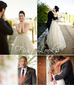 Bride and Groom, First Looks. I just love this