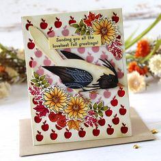 Pumpkin Bouquet, Large Mason Jars, Bird Wings, White Gel Pen, Bird Cards, Fall Cards, White Ribbon, Distress Ink, Cute Halloween