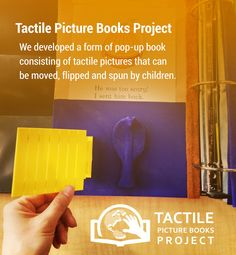 We developed a form of pop-up book consisting of pictures that can be moved, flipped and spun by children.