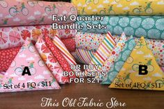 Fat Quarter Sets - Riley Blake Fabrics - Fancy Free Collection  designed by Lori Whitlock -  WHILE SUPPLIES LAST by ThisOldFabricStore on Etsy https://www.etsy.com/listing/245809472/fat-quarter-sets-riley-blake-fabrics