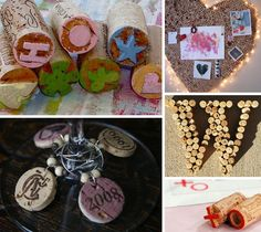 Another reason to enjoy wine.  Corks can be used for fun crafts.  I love the monogram and wine charms.