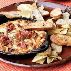 Hot Caramelized Onion Dip with Bacon and Gruyère | MyRecipes.com...this is dip is AMAZING