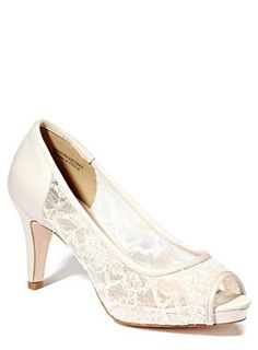 Champagne open toe heel bridesmaid shoes
