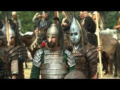 Hungarian re enactors during Kurultaj dressed as traditional Magyar warriors circa 900 a.d