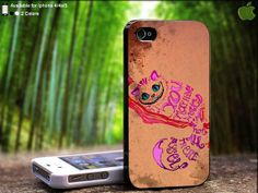 Ceshire Pink Typography Cat from Alice in Wonderland by SidePucket, $14.89