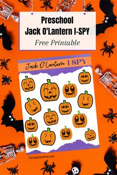 Preschool Jack O'Lantern ISpy for Halloween. Your little one will have fun finding and counting the funny pumpkin faces. Halloween Jack, Halloween Crafts For Kids, Holidays Halloween, Funny Pumpkin Faces, Funny Pumpkins, I Spy, Jack O, Party Activities, The Funny