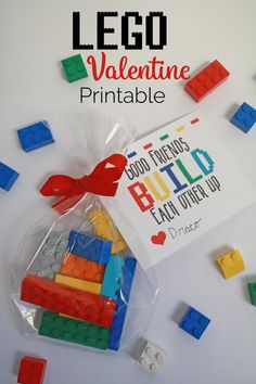 Free Lego Valentine's Printable – Our Kerrazy Adventure - Kinderspiele Kinder Valentines, Valentine Gifts For Kids, Homemade Valentines, Valentines Day Decorations, Valentines Day Party, Valentine Day Crafts, Lego Party Decorations, Lego Party Favors, Valentine Wreath