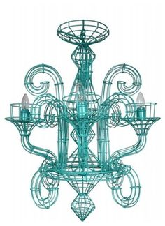 fenton & fenton Wire Chandelier contemporary-chandeliers