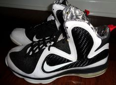 best sneakers a1f19 4208e Nike LeBron 9 IX GS Freegums White Black Sport Red Youth Size 5Y 472664-101