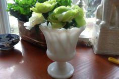 White milk glass vase by WhiteBarnHome on Etsy, $17.00