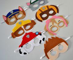 Paw Patrol Masks, Paw Patrol Party, Paw Patrol Birthday, Dog Birthday, 4th Birthday Parties, Paw Patrol Bedroom, Paw Patrol Decorations, Cumple Paw Patrol, Paper Bag Puppets
