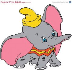 ON SALE INSTANT Download  Dumbo 11.79 x 10.71  by MyStitchLand, $4.00