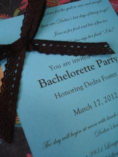 Bachelorette Party Invitation close-up