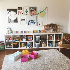 Best Cheap IKEA Kids Playroom Ideas for 2019 – ViraLinspirationS – Kallax Ideas 2020 Ikea Kids Playroom, Playroom Organization, Playroom Design, Playroom Decor, Playroom Furniture, Cheap Playroom Ideas, Bedroom Furniture, Living Room Playroom, Playroom Shelves