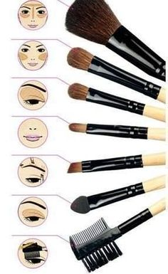 Best Brushes For MakeupFace Makeup TipsBest Makeup TipsDiy Makeup BrushBest Face MakeupBest Makeup For ContouringPuppy Eyes MakeupEye Makeup For PromMakeup Hacks Tips. Makeup Brushes 101 Detailed Guide On How To Use Your Set - Best Makeup Guide For Beginners by Makeup Tutorials ...