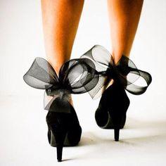 Shoespie Black Lace Decoration Stiletto Heels
