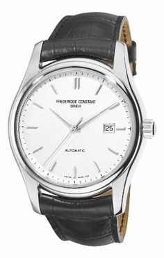 Frederique Constant Men's FC-303S6B6 Clear Vision Silver Dial Black Strap Watch Frederique Constant. $842.40. Water-resistant to 330 feet (100 M). Automatic movement. Stainless steel case. Buckle. Silver dial. Save 27% Off!