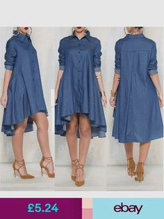 Maternity Support Garments #ebay #Clothes, Shoes & Accessories Long Shirt Dress, Blouse Dress, Casual Dresses, Casual Outfits, Fashion Dresses, Weekend Style, Shirt Style, Denim Jeans, Relax