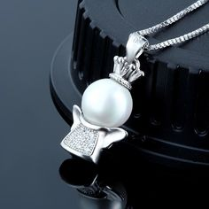 Only $3.72 Free-Shipping - White Shell Pearl Cubic Zirconia Solid 925 Sterling Silver Lucky Pendant http://silverbene.com/trendy-personalized-christmas-angel-white-shell-pearl-cubic-zirconia-solid-925-sterling-silver-lucky-pendant-for-women.html