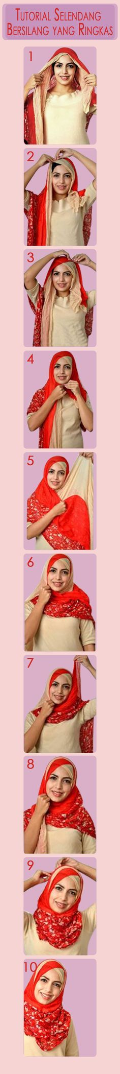 tutorial selendang tutorial hijabs hijab tutorial ringkas untuk untuk ...