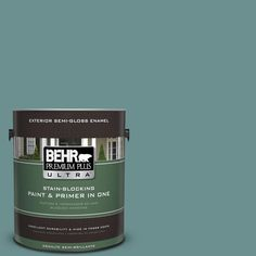 BEHR Premium Plus Ultra 1-gal. #500F-6 Hallowed Hush Semi-Gloss Enamel Exterior Paint