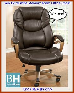 #Win Extra-Wide Memory Foam Office Chair ($199 arv) Brylane Home- ends 10/4 US only - momdoesreviews.com