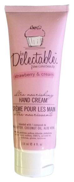 Be Delectable strawberry & cream hand cream 4 oz women. $13.99 free shipping ($14eeg) #fragrance #lotion @tradesy